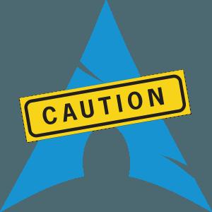 arch-linux-caution