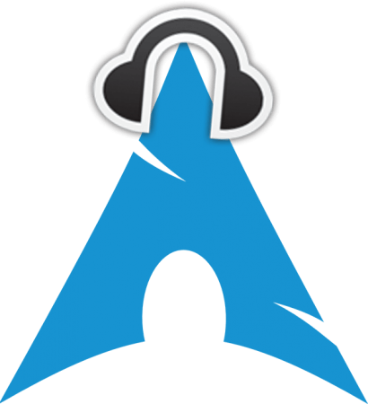 Headphones and Arch Linux logo