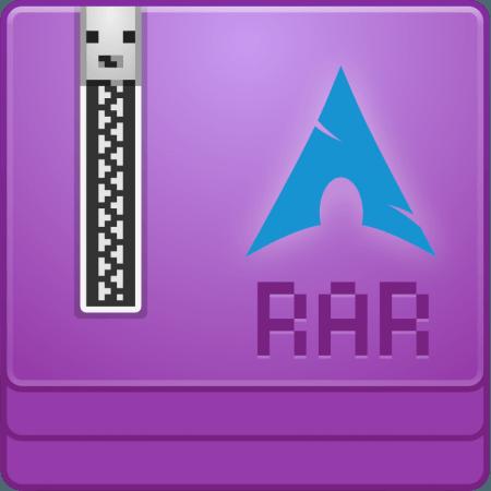 UNRAR Arch Linux Logo