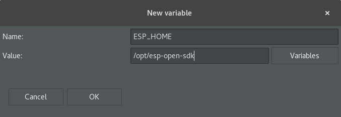 Eclipse New Variable window