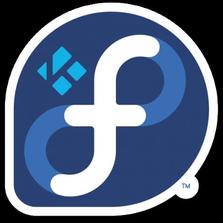 Kodi Fedora Linux logo